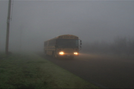 school bus driving in fog, rain, and wind training