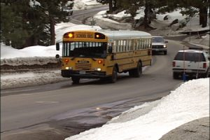 school bus winter bus driving safety
