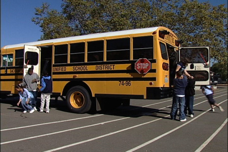 how to safely evacuate a school bus