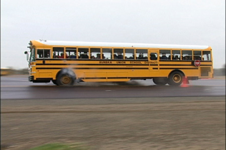 how to survive school bus tire blowout