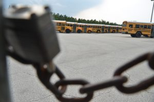 securing school bus yard security